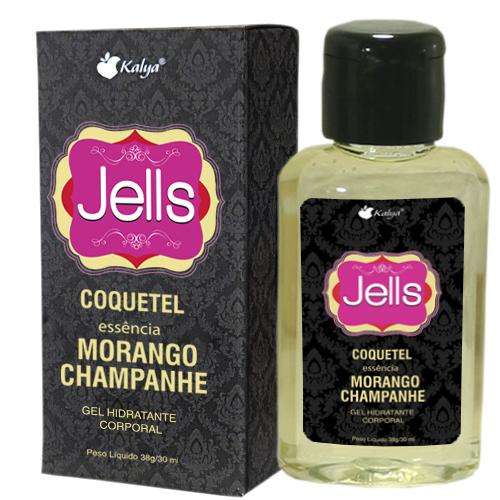 JELLS COQUETEL MORANGO & CHAMPANHE explosão de sensações e aromas na pele